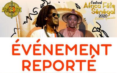Africa Fête Sénégal reporté